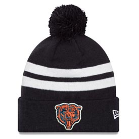Chicago Bears Top Stripe with Pom Knit