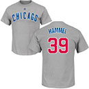 Chicago Cubs Jason Hammel Road Name and Number T-Shirt