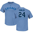 Chicago Cubs Dexter Fowler Light Blue Name and Number T-Shirt