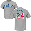 Chicago Cubs Dexter Fowler Road Name and Number T-Shirt