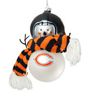 Chicago Bears Blown Glass Snowman Ornament