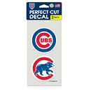 Chicago Cubs 2 Pack of Die-Cut Decals
