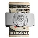 Chicago Cubs Rhodium-Plated Money Clip