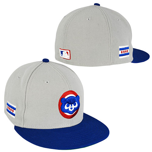 53edc216309 Chicago Cubs 84 Logo City Flag 5950 Fitted Cap