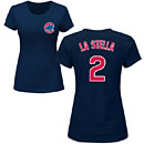 Chicago Cubs Tommy La Stella Ladies Navy Name and Number T-Shirt