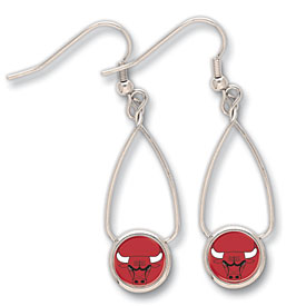 Chicago Bulls French Loop Earrings