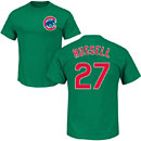 Chicago Cubs Addison Russell Green Name and Number T-Shirt