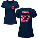 Chicago Cubs Addison Russell Navy Ladies Name and Number T-Shirt
