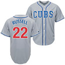 Chicago Cubs Addison Russell Alternate Road Cool Base Replica Jersey