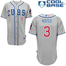 Chicago Cubs David Ross Alternate Road Authentic Cool Base Jersey