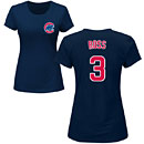 Chicago Cubs David Ross Ladies Navy Name and Number T-Shirt