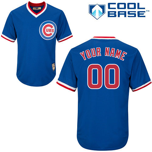 9e918e52b Chicago Cubs Customized Alternate Cooperstown Cool Base Replica ...