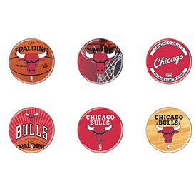 Chicago Bulls 6 Pack of Buttons