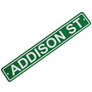 Chicago Cubs Addison St. Plastic Street Sign