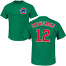 Chicago Cubs Kyle Schwarber Green Name and Number T-Shirt