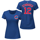 Chicago Cubs Kyle Schwarber Ladies Name and Number T-Shirt
