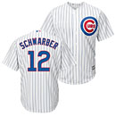 Chicago Cubs Kyle Schwarber Home Cool Base Replica Jersey