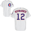 Chicago Cubs Kyle Schwarber Authentic Home Jersey