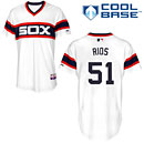 Chicago White Sox Alex Rios Authentic 2013 Alternate Home Cool Base Jersey