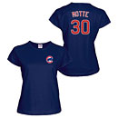 Chicago Cubs Jason Motte Ladies Navy Name and Number T-Shirt
