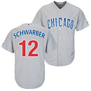 Chicago Cubs Kyle Schwarber Road Cool Base Replica Jersey