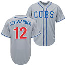 Chicago Cubs Kyle Schwarber Alternate Road Cool Base Replica Jersey