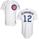 Chicago Cubs Kyle Schwarber Home Authentic Cool Base Jersey