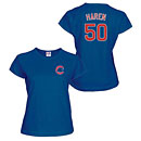 Chicago Cubs Dan Haren Ladies Name and Number T-Shirt