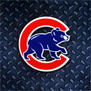 Chicago Cubs Walking Bear Logo Steel Magnet