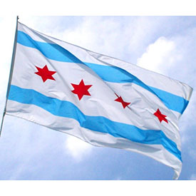 City of Chicago 3 x 5 Flag