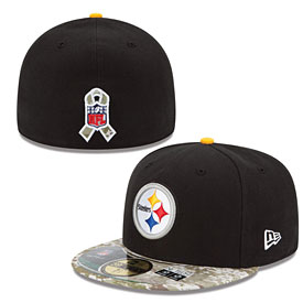 Pittsburgh Steelers Salute to Services 5950 Fitted Cap
