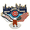 Chicago Cubs Next Year is Here Lapel Pin