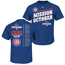 Chicago Cubs 2015 Postseason Mission October Roster T-Shirt