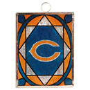 Chicago Bears Stained Glass Ornament