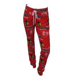 Chicago Blackhawks Ladies Fusion All Over Logo Pants