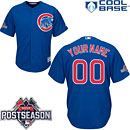 Chicago Cubs Customized Alternate Replica Cool Base Jersey w/ 2015 Postseason Patch