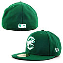 Chicago Cubs Kelly Green Walking Bear 5950 Fitted Cap