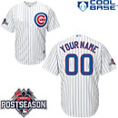 Chicago Cubs Customized Home Replica Cool Base Jersey w/ 2015 Postseason Patch