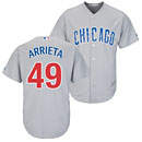 Chicago Cubs Jake Arrieta Road Cool Base Replica Jersey