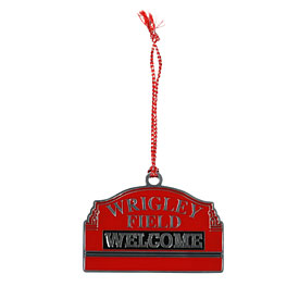 Wrigley Field Marquee Sign Metal Ornament