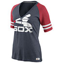 Chicago White Sox Ladies Cooperstown Collection Fan V-Neck T-Shirt