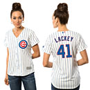 Chicago Cubs John Lackey Ladies Home Cool Base Replica Jersey