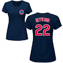 Chicago Cubs Jason Heyward Ladies Navy Name and Number T-Shirt