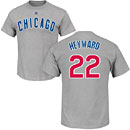 Chicago Cubs Jason Heyward Road Name and Number T-Shirt