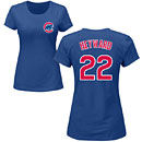 Chicago Cubs Jason Heyward Ladies Name and Number T-Shirt