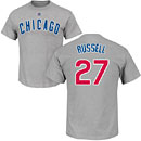 Chicago Cubs Addison Russell Road Name and Number T-Shirt