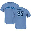 Chicago Cubs Addison Russell Light Blue Name and Number T-Shirt