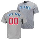 Chicago Cubs Road Personalized Name and Number T-Shirt