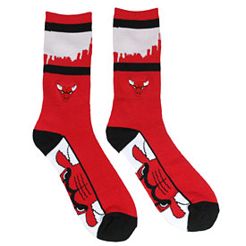 Chicago Bulls Skyline Zoom Quarter Length Socks