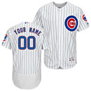 Chicago Cubs Home Flexbase Authentic Collection Customized Jersey